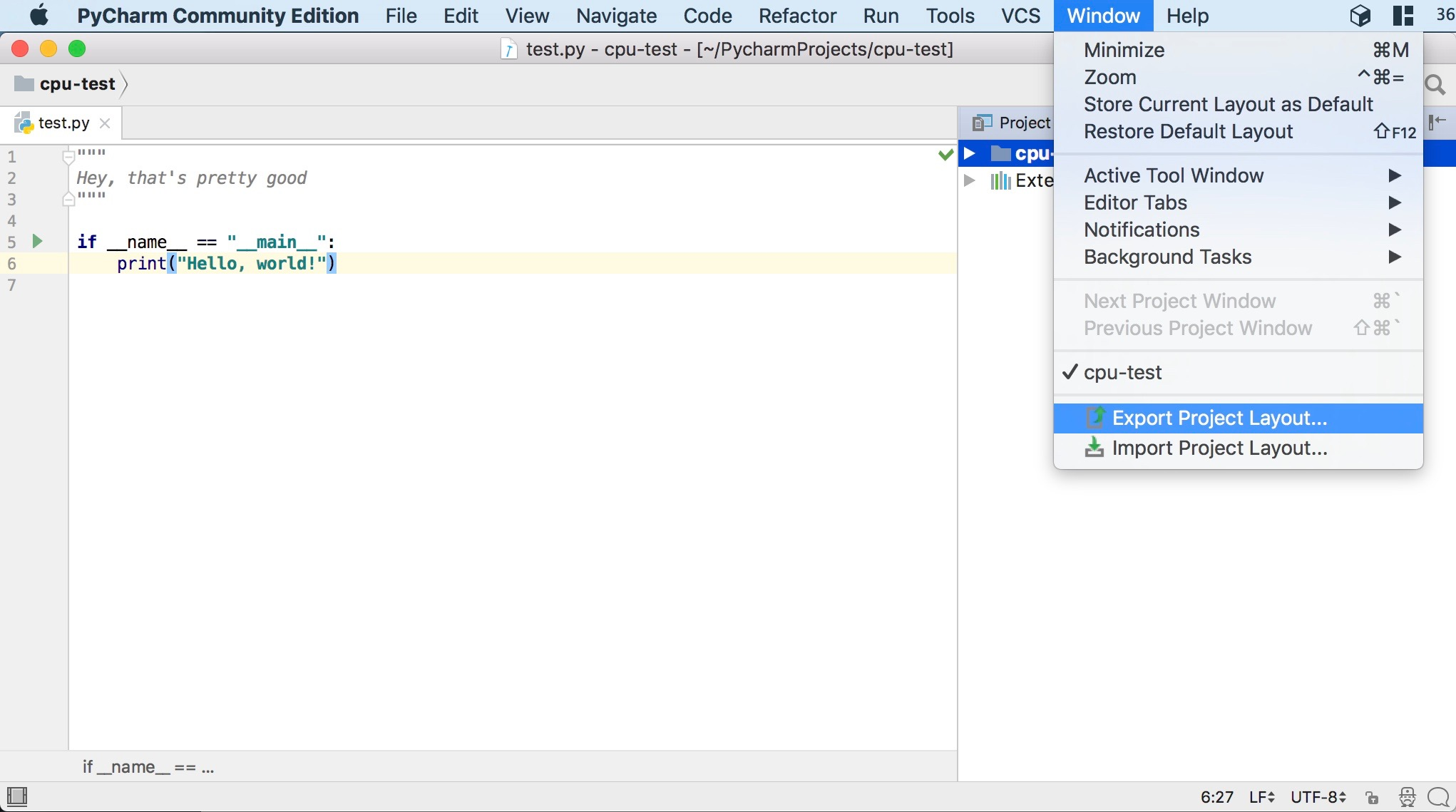 IntelliJ IDEA plugin to manage window layouts