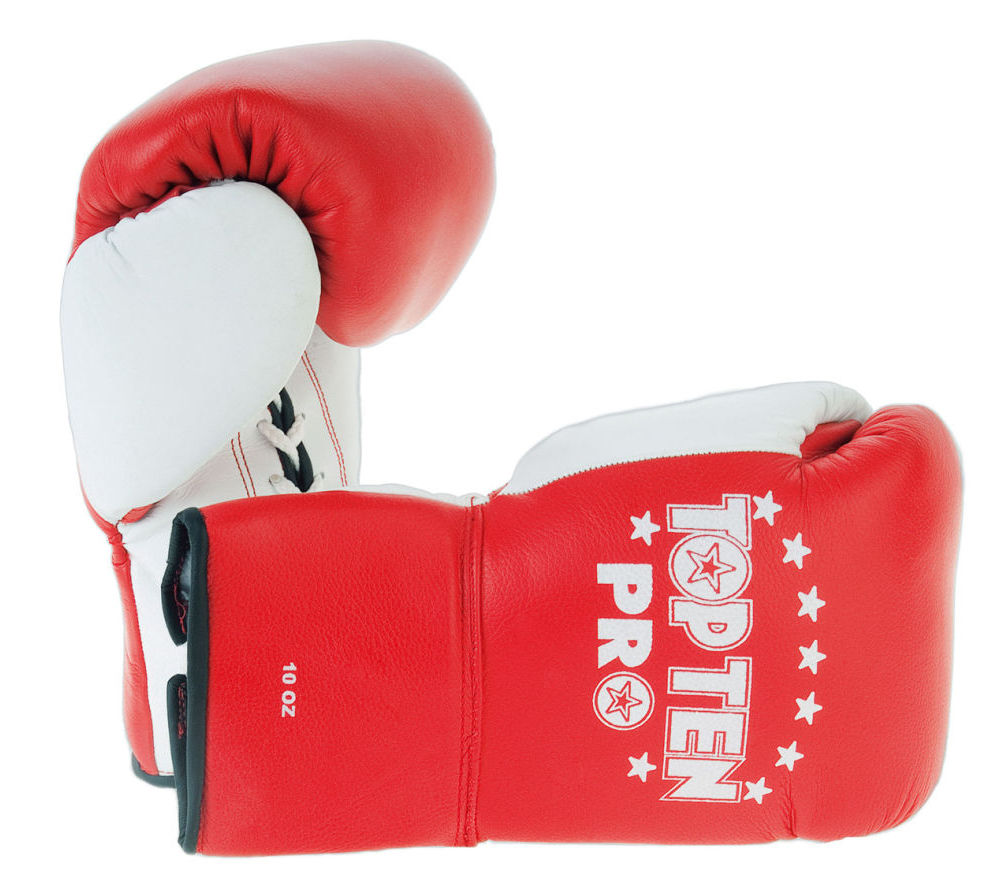 Боксерские перчатки Top Ten Boxing Gloves Pro - red/white