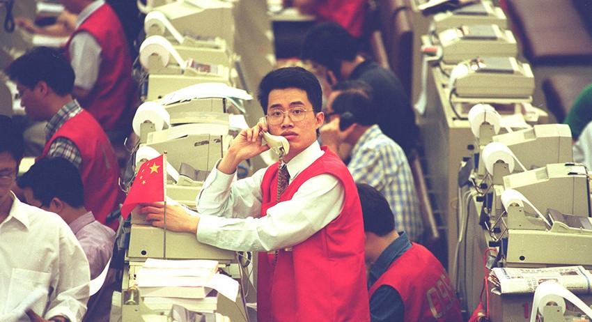 На биржах Китая произошло крупное падение котировок
