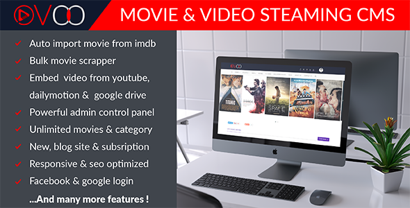 OVOO-Movie & Video Steaming CMS - Free Download Nulled Themes 2019