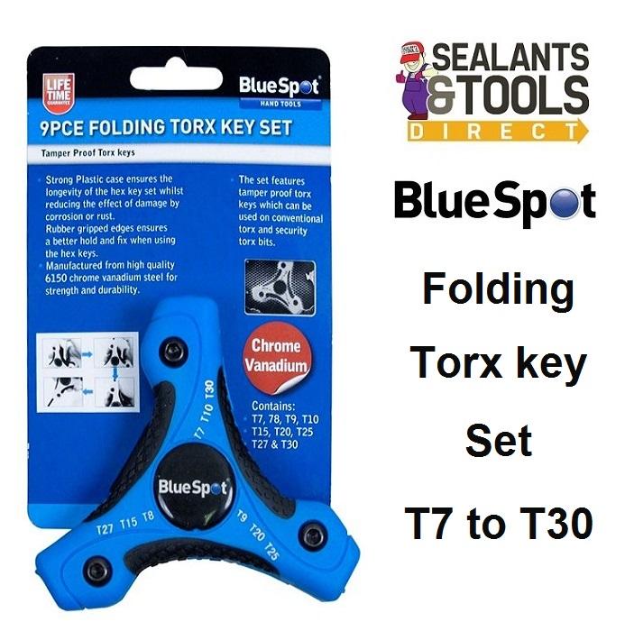Blue Spot Tools 15370 Folding Torx Key Set