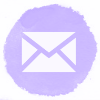 Lilac watercolor email social media icons
