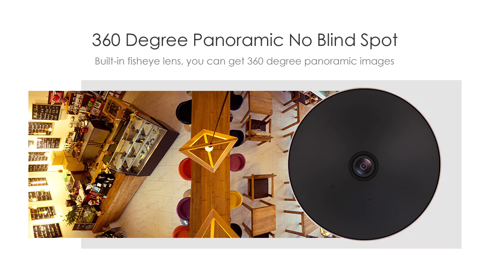 360 degree panoramic video no blind spot, built-in fisheye lens can capture panoramic video