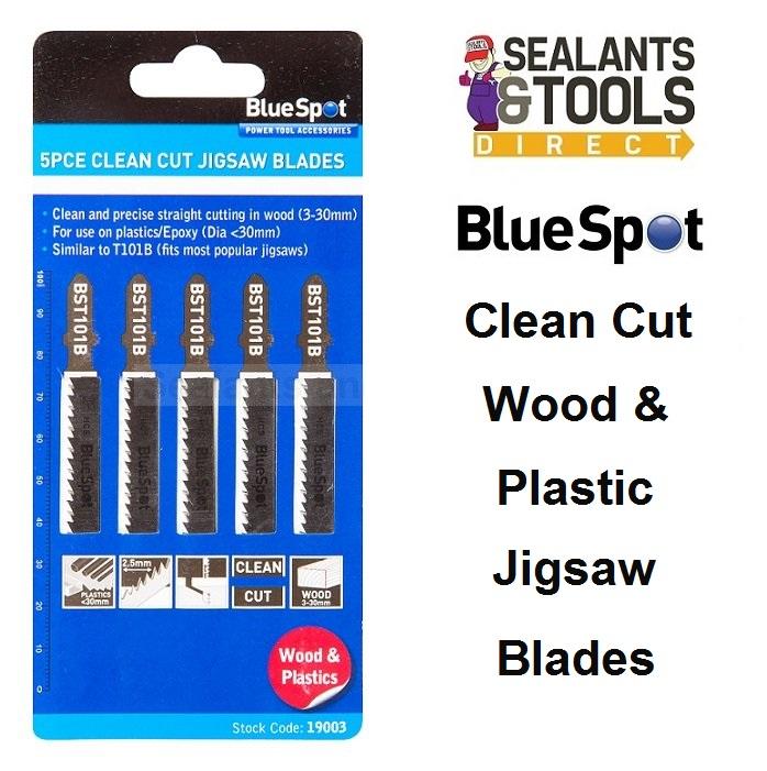 Blue Spot Jigsaw Blades BST101B Clean Cut Wood Plastic 19003