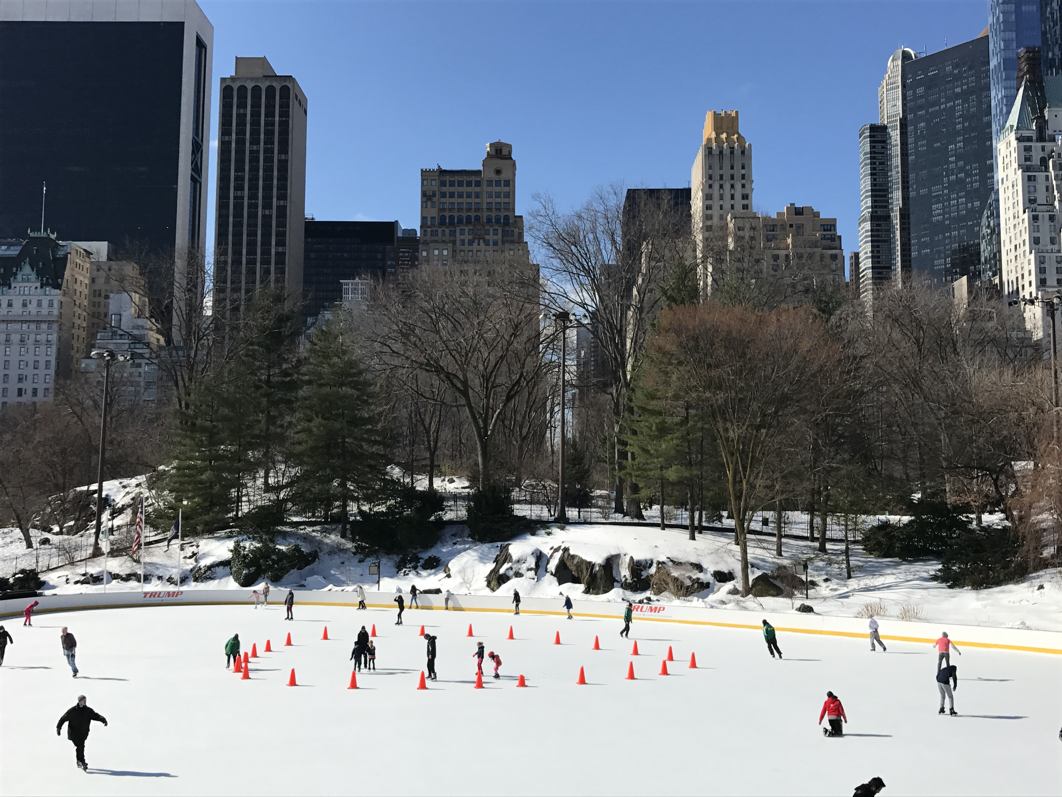 Ice skating in Central Park Wollman Rink