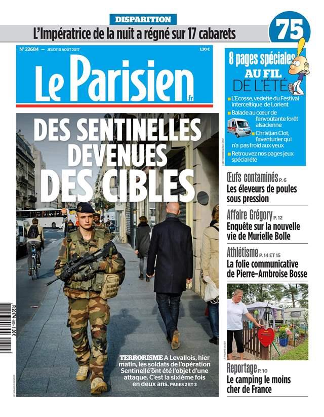 Le Parisien Jeudi 10 Août 2017