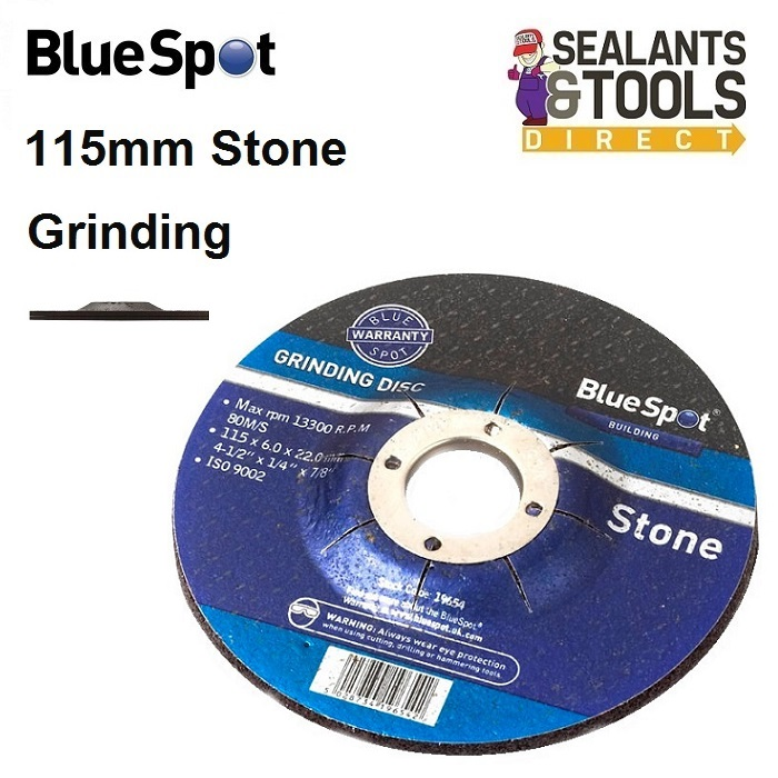 Blue Spot Stone Grinding Disc 115mm 19654 4-1/2