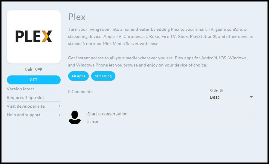 Plex Page