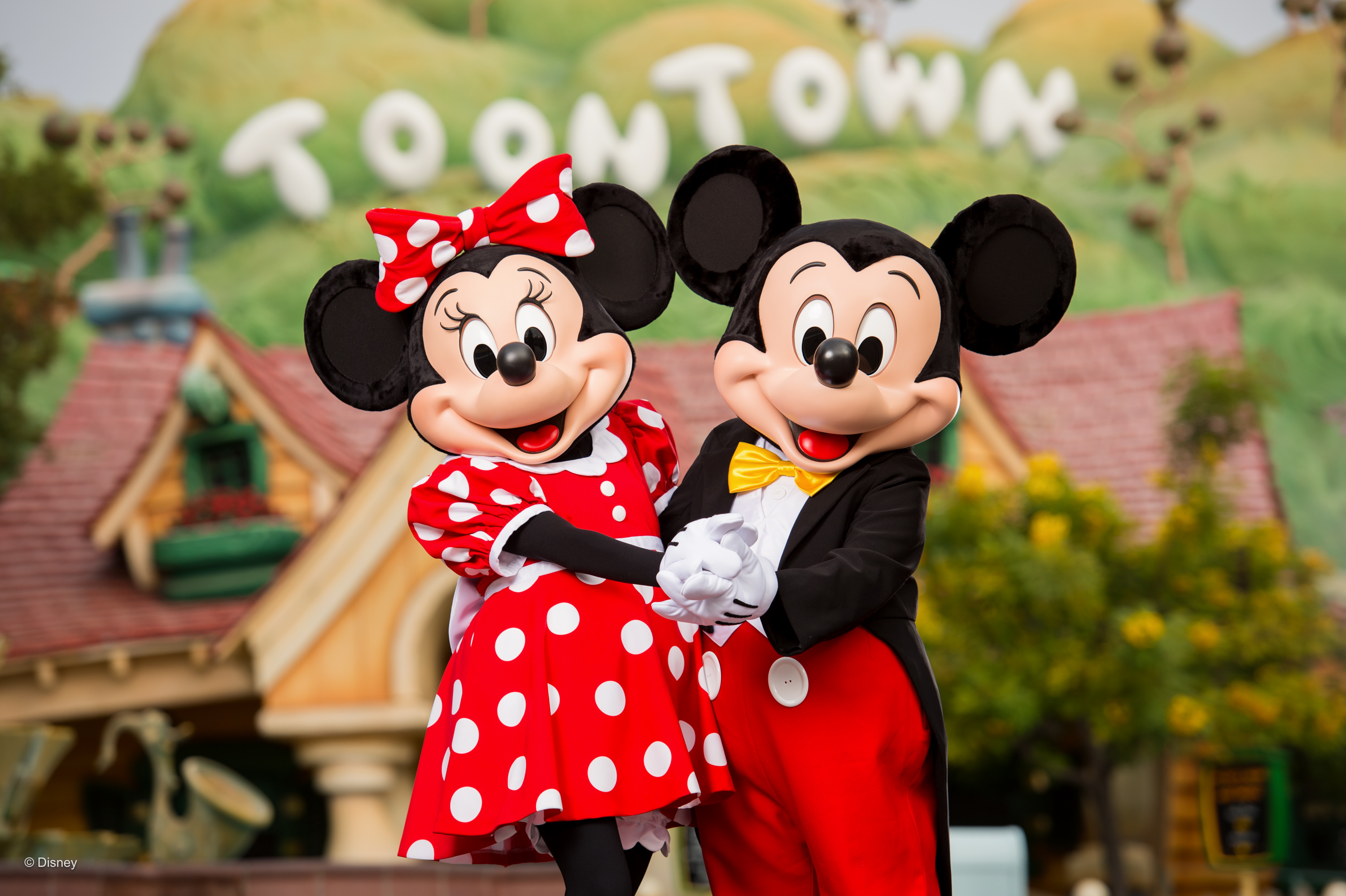 Mickey and Minnie Mouse at Disneyland California