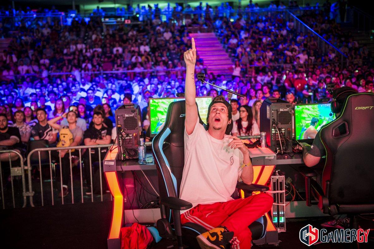 Rubius durante el torneo de Fornite | Vía twitter @gamergy