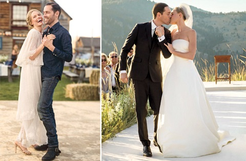 Kate Bosworth and Michael Polish on their wedding