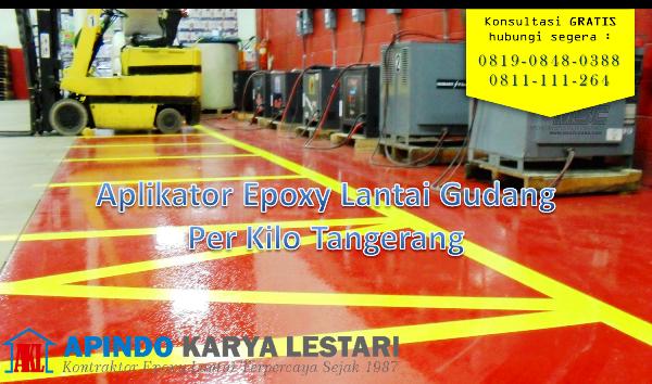 Aplikator Epoxy Lantai Gudang per kilo tangerang