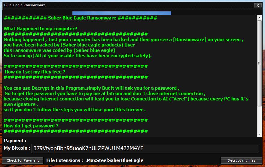 Saher Blue Egale Ransomware Builder