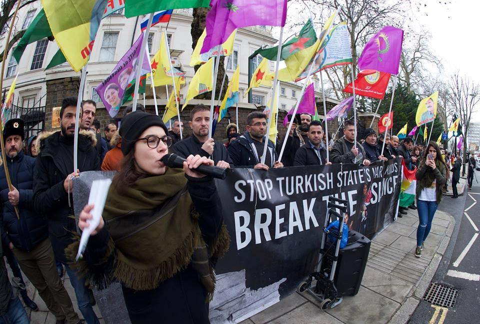 Kurdyjska demonstracja
