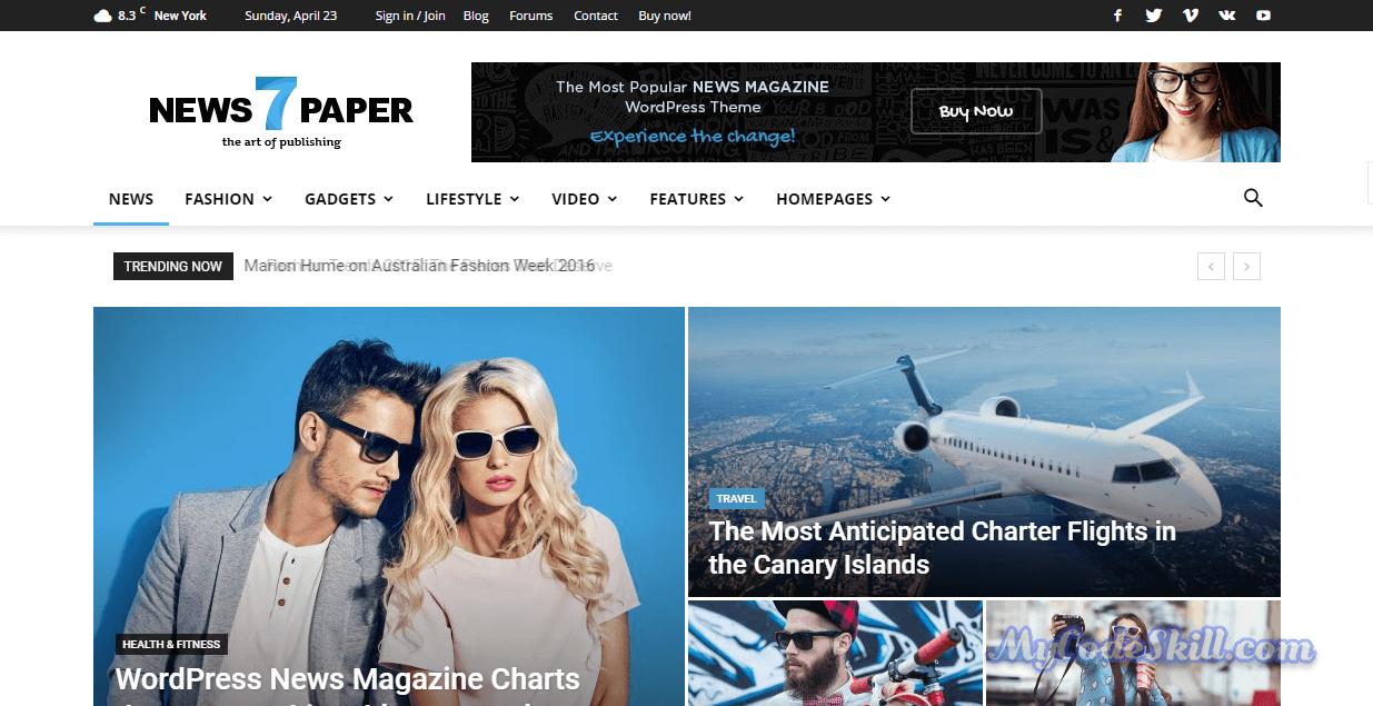 Newspaper7-AMP WordPress Theme