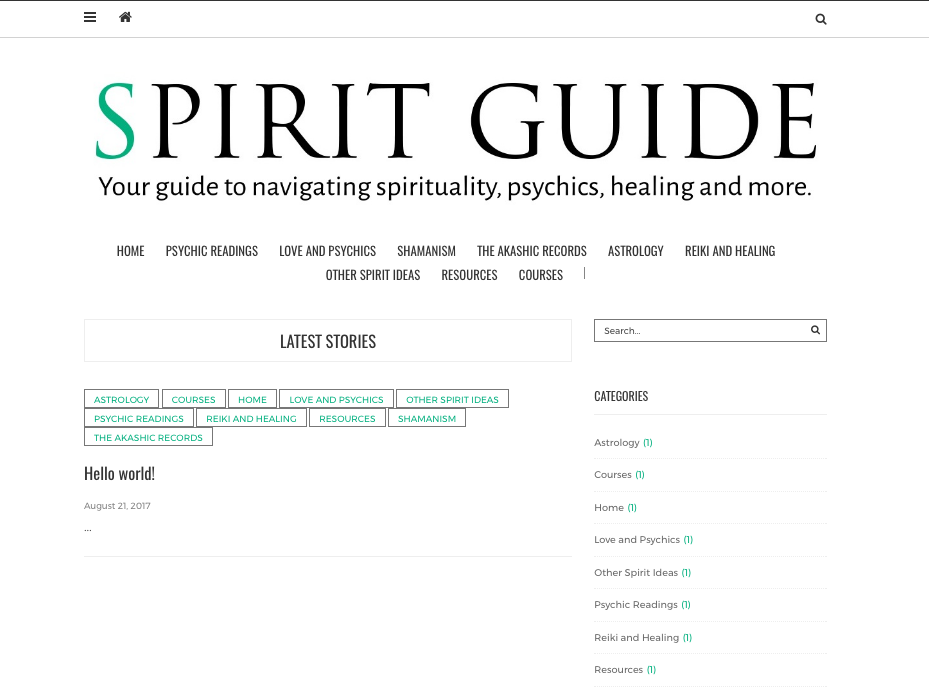 Spirit Guide Website