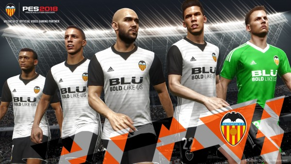 PES 2018: Konami se convierte en official video gaming partnet del Valencia CF