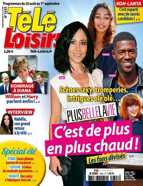 Télé Loisirs N°1643 - 26 Août au 1er Septembre 2017