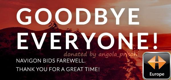 Goodbye NAVIGON