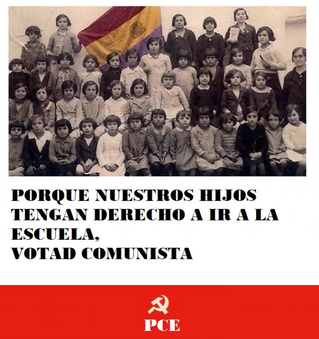 [PCE] Carteles de la campaña electoral del PCE Cartel_3