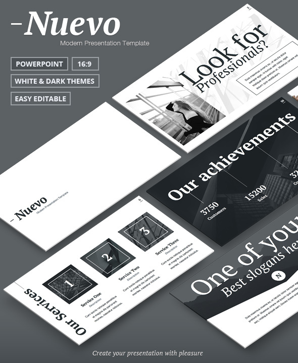 GraphicRiver - Nuevo - Modern & Clean PowerPoint Template 17550538