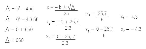 cálculo 3x2+55=0