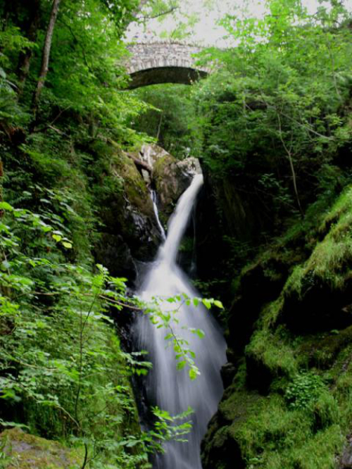 An image of Aira Force in Cumbria, star of waterfall folklore