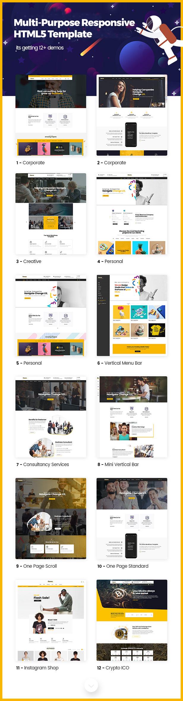 Dana - Corporate Business Multi-Purpose Responsive HTML5 Template - 1