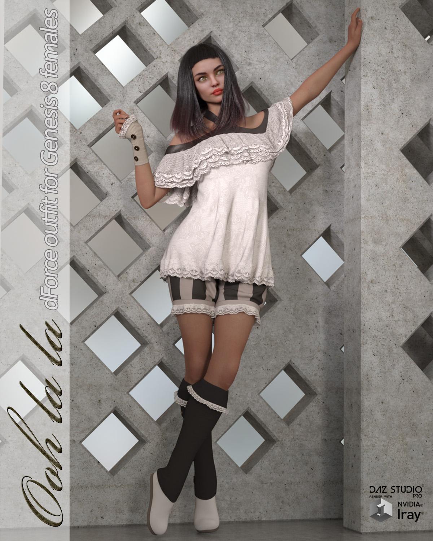 Ooh la la – dforce outfit for Genesis 8 Female(s)