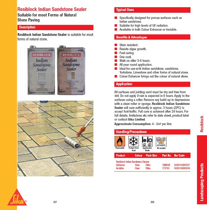 Resiblock Indian Sandstone Brochure