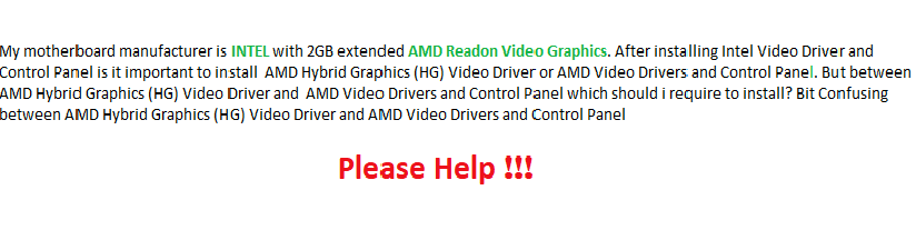What is difference between an AMD Hybrid Graphics (HG) Video Driver