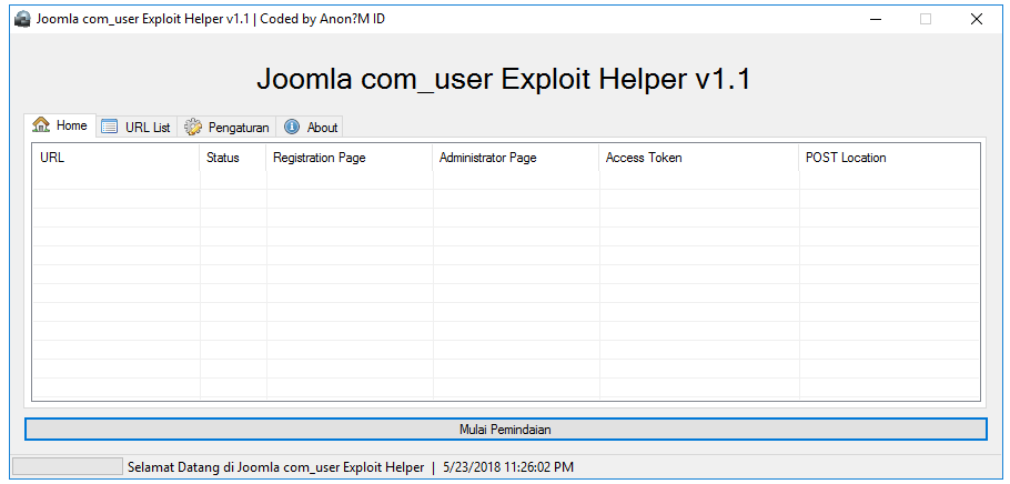Joomla user Exploit Helper v1.1