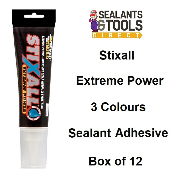 Everbuild Stixall Easi Squeeze Adhesive Sealant 80ml Box of 12