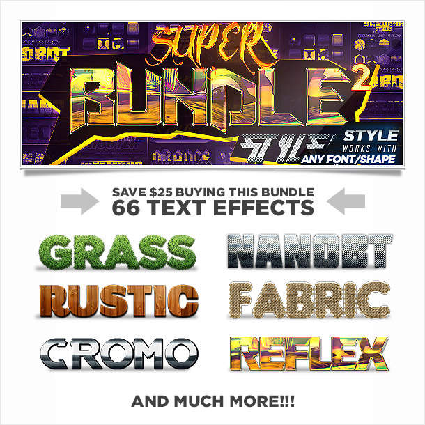 Super bundle of photoshop styles text effects 2