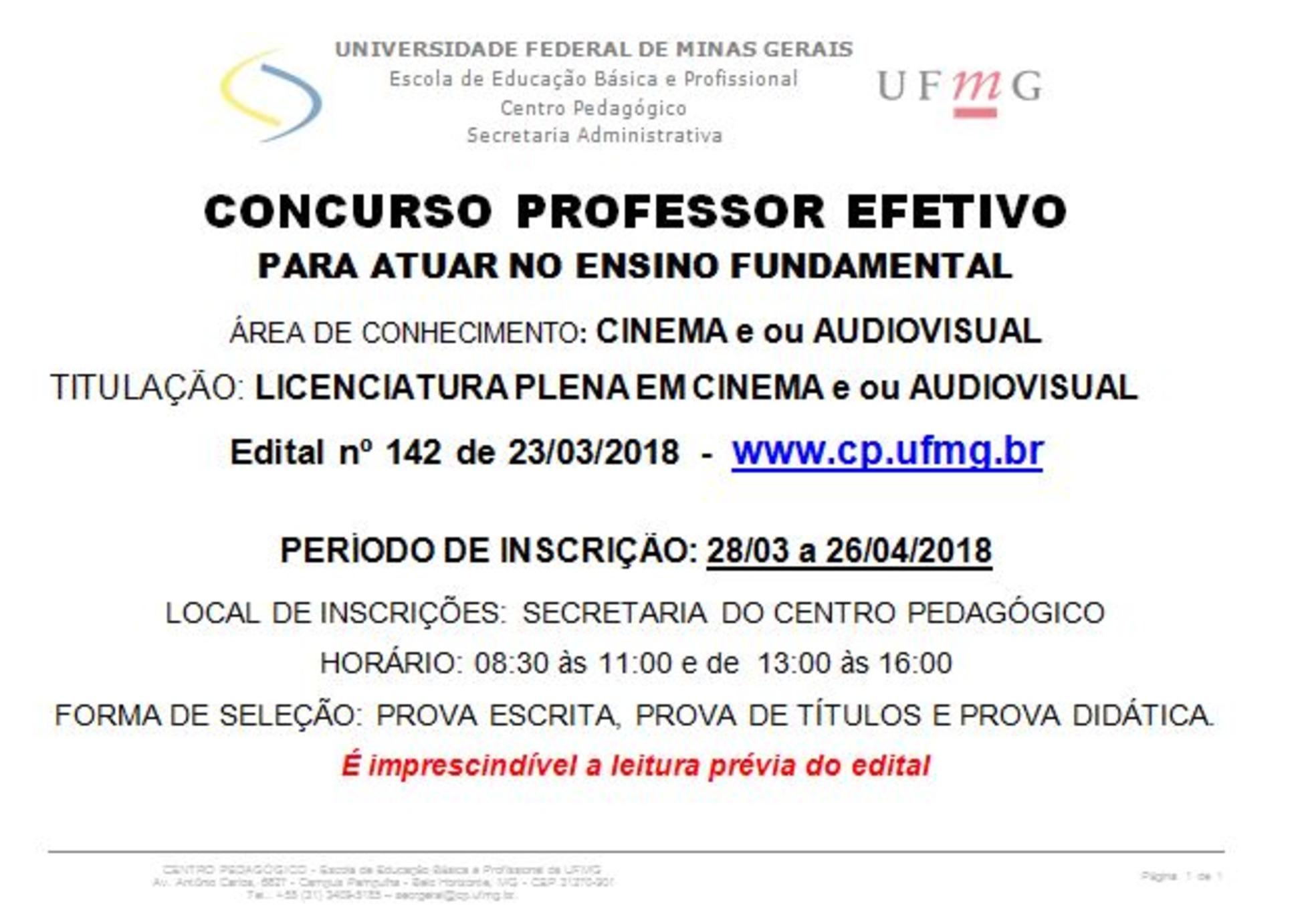 Banner UFMG