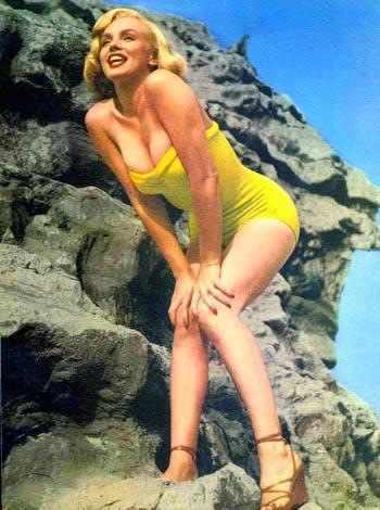 Marilyn Yellow Bathing Suit