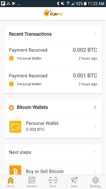 Transactions screen