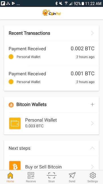 Transactions screen