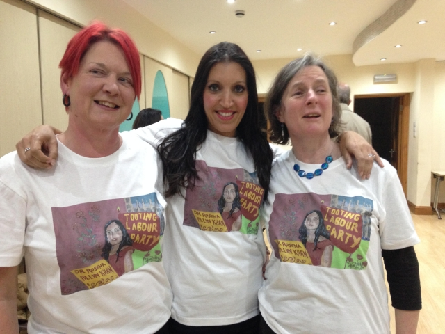 Photo of Rosena T-shirts being modelled