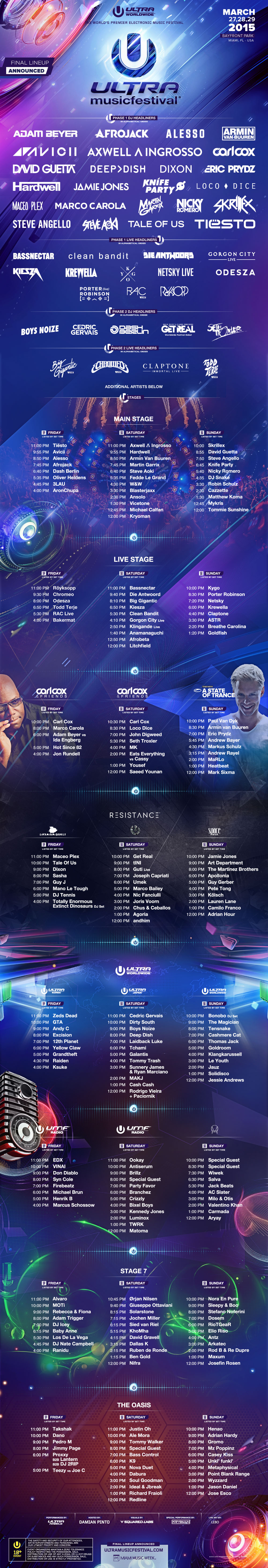 line up ultra music festival 2015