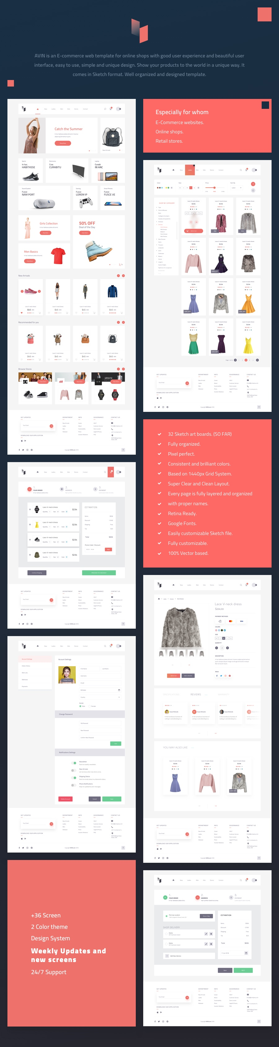 Avin A Multi-Concept Ecommerce Sketch Template - 1
