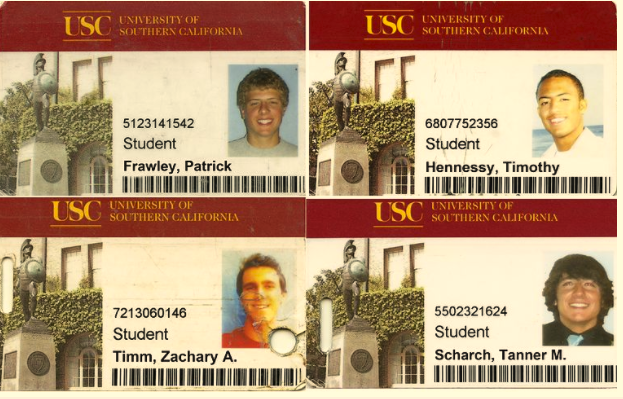 Univeristiy of southern california student id card psd template