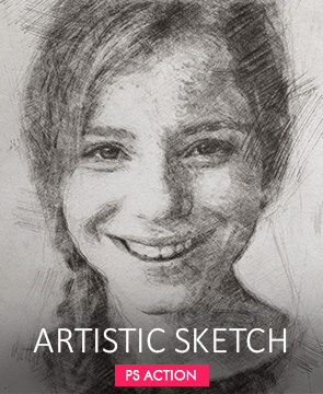 Artistic Sketch  - Artistic sketch - Tech Sketch Photoshop Action