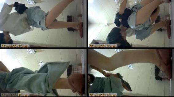Clip: Quay lén toilet Học Sinh, Chân dài vl :))