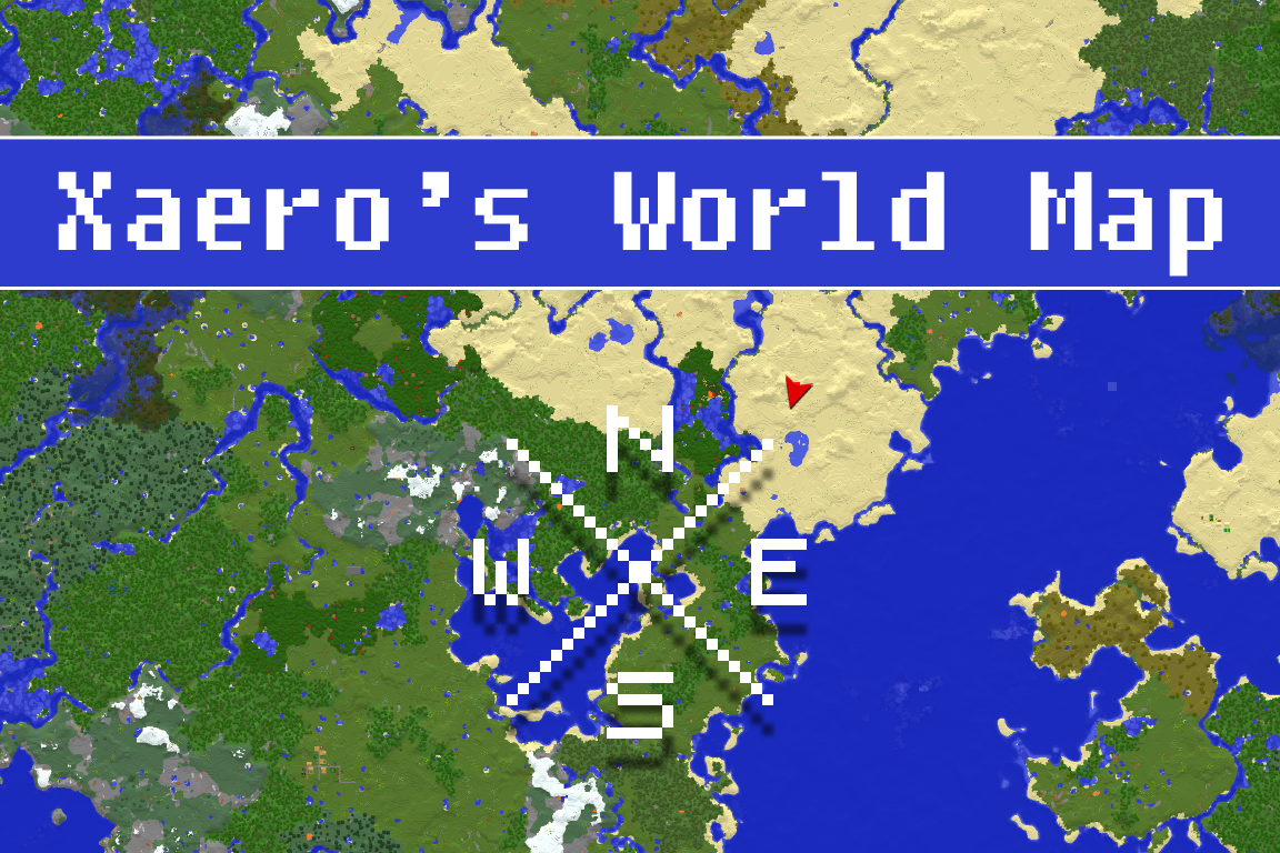 Xaero's World Map   Fullscreen Map   Minecraft Mods   Mapping and