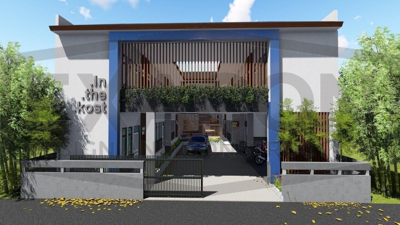Proyek Desain Arsitektur Gedung Kost 2 Lantai Minimalis Bpk Ferry Tangerang