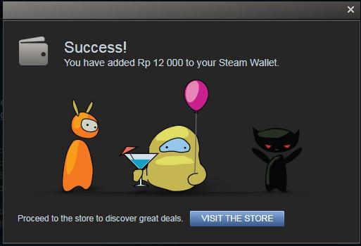 Radeem Steam Wallet Berhasil