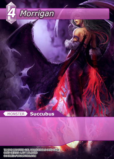 Monster Girl Collectible Card Profiles: Villainesses! - Page 3 Morrigan