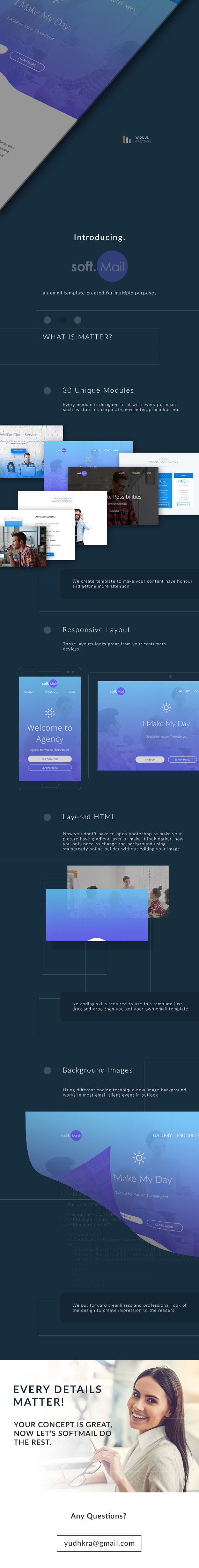 Softmail – Multipurpose Responsive Email Template with Stampready Online Builder (Email Templates)