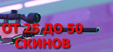 ОТ 25 ДО 50 СКИНОВ
